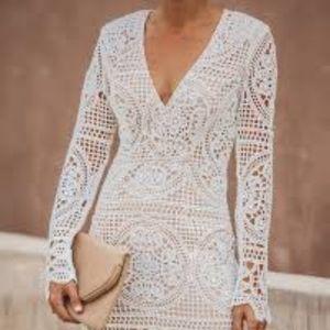 NWT Vici Dolls Wine & Dine Crochet Lace Dress